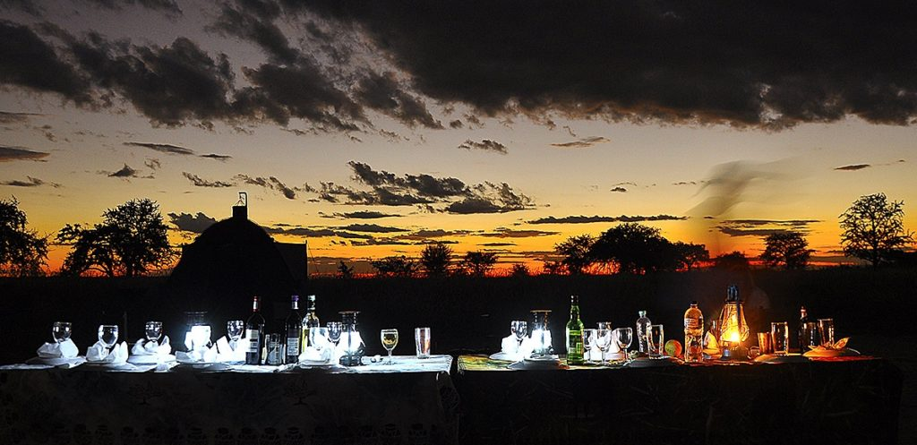 Okavango boating safari dinner