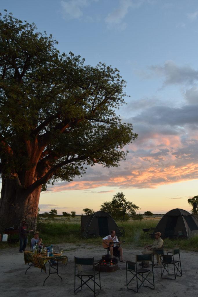 Tented safari camp near Nxai Pan