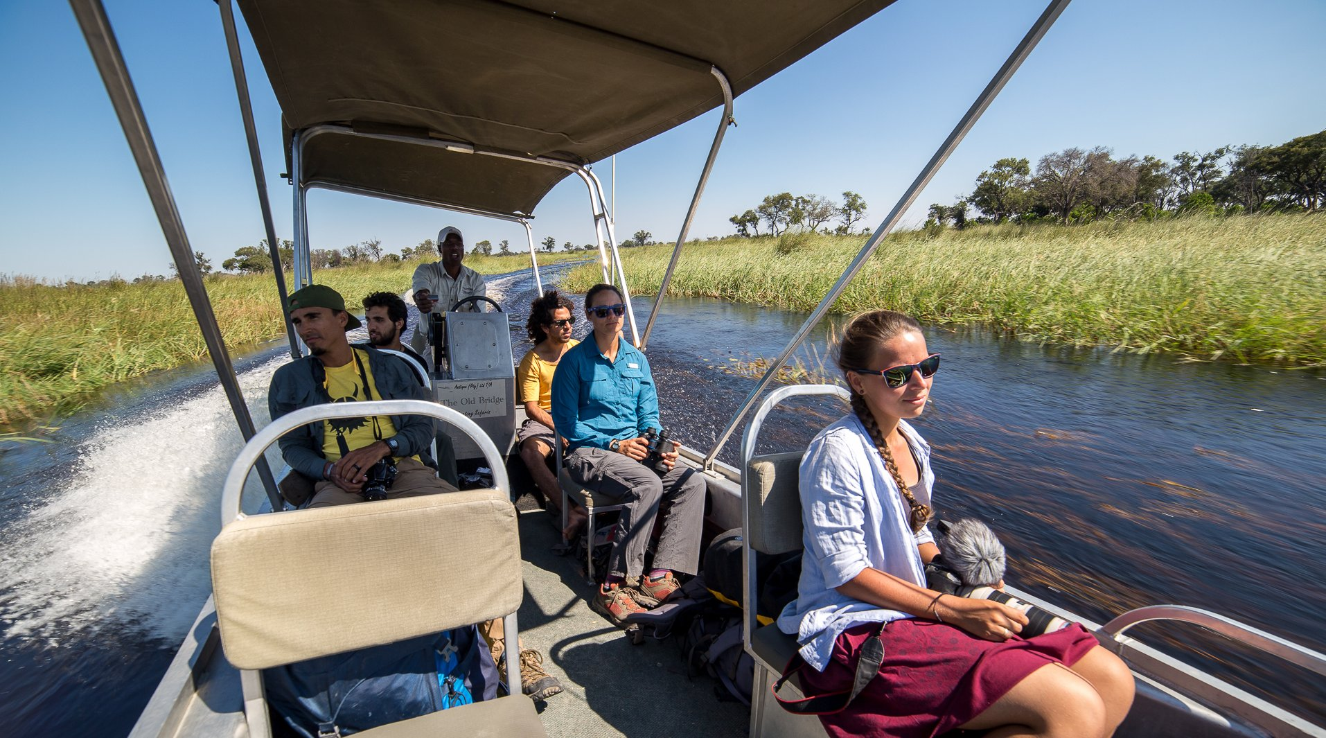 Okavango delta boating